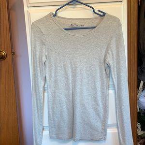 Gray Victoria secret long sleeve T-shirt.